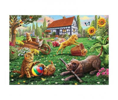 PUZZLE 500 DOGS AND CATS AT PLAY