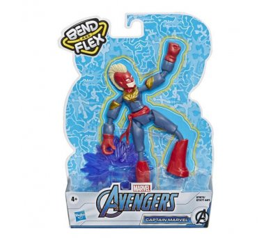 Avengers Bend Flex Figür Captain Marvel E7377​​​​​​​