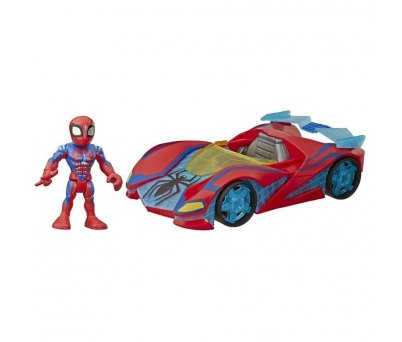 Marvel Super Hero Adventures Spider-Man Mega Mini Figür ve Araç  E7932