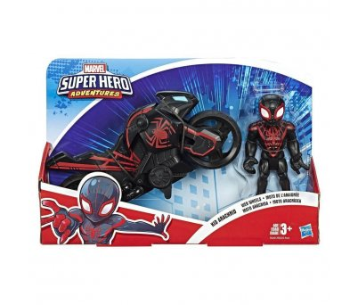 Marvel Super Hero Adventures Kid Arachnid Mega Mini Figür ve Motosikleti E6261