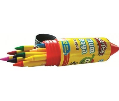 Play-Doh Mum Boya 12 Renk Crayon 11mm